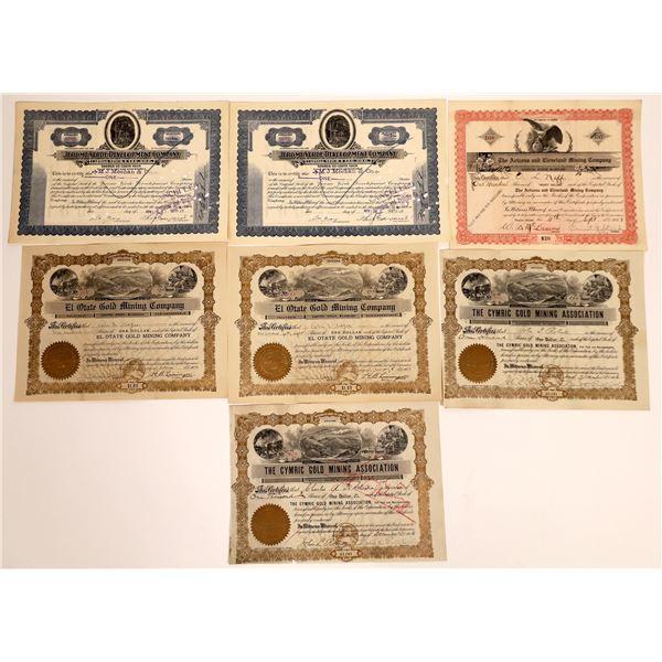 Arizona Mining Stock Certificate Collection  [130565]