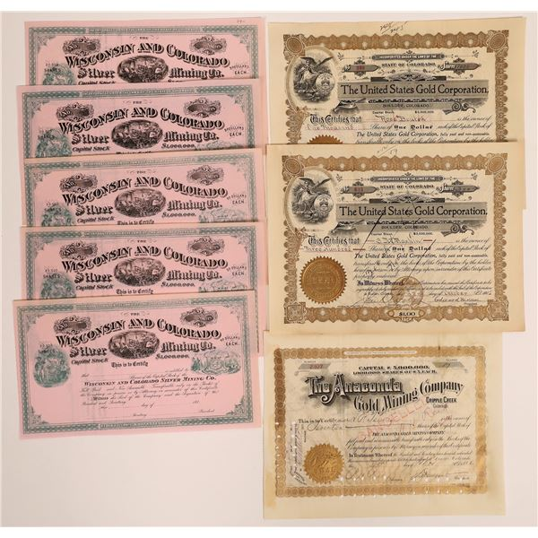 Colorado Mining Stock Certificate Collection  [130566]