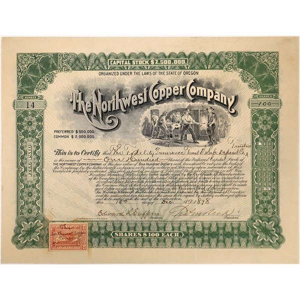 Northwest Copper Company Stock Certificate  [129700]