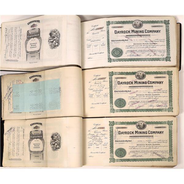 Dayrock Mining Company Stock Certificates (750)  [139495]