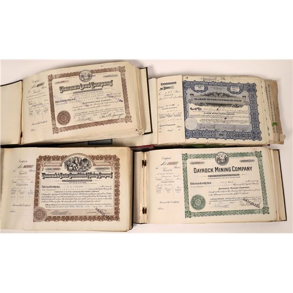 Four Mining Company Stock Books with 1,000 stocks – Group 5  [130406]