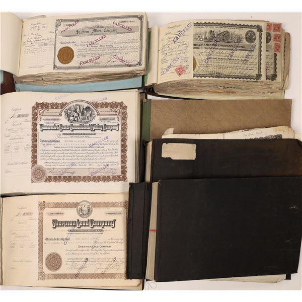 Mining Stock Certificates Books (7)  [139550]