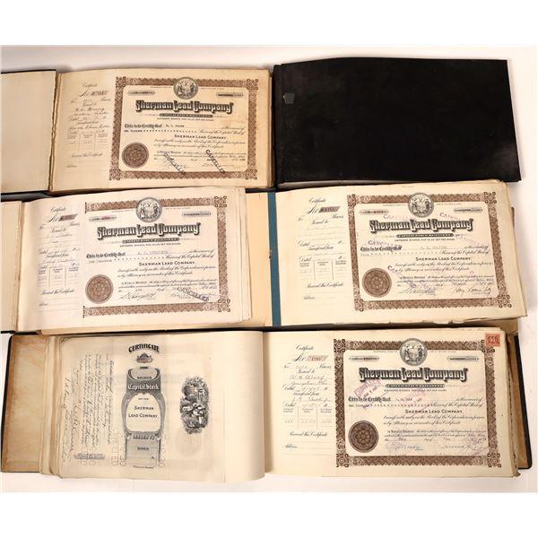 Sherman Lead Company Stock Certificates (1250)  [139497]