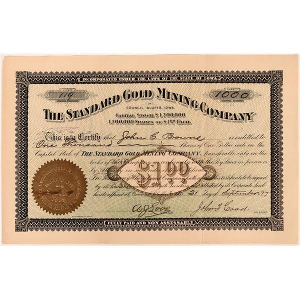 Standard Gold Mining Co. of Council Bluffs, Iowa Stock, 1897  [118603]