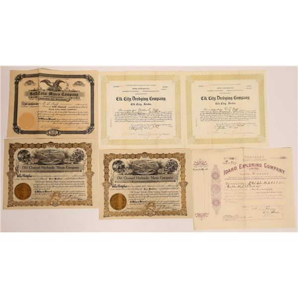 Oregon and Idaho Stock Certificate Collection  [130564]