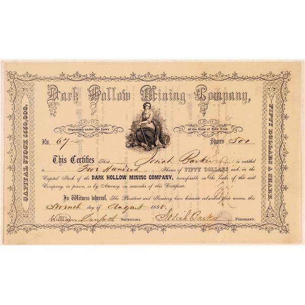 Dark Hollow Mining Company Stock Certificate  [107766]