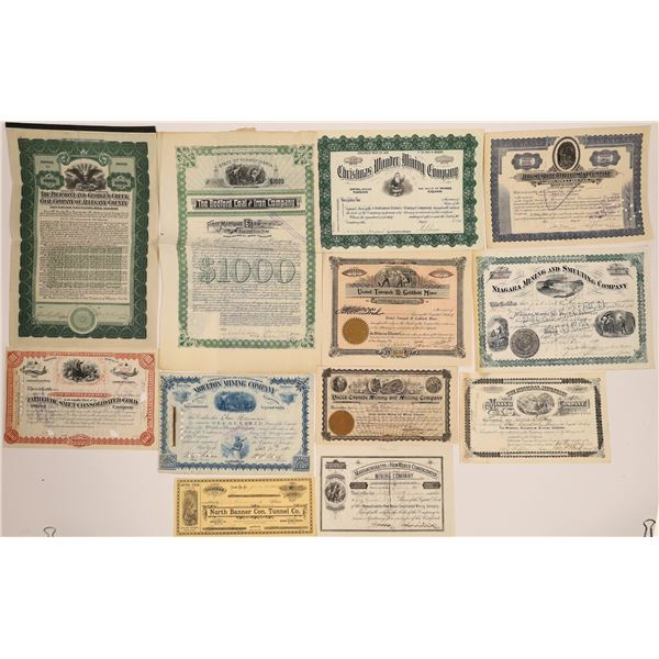 United States Mining Stock Certificate Collection  [130570]
