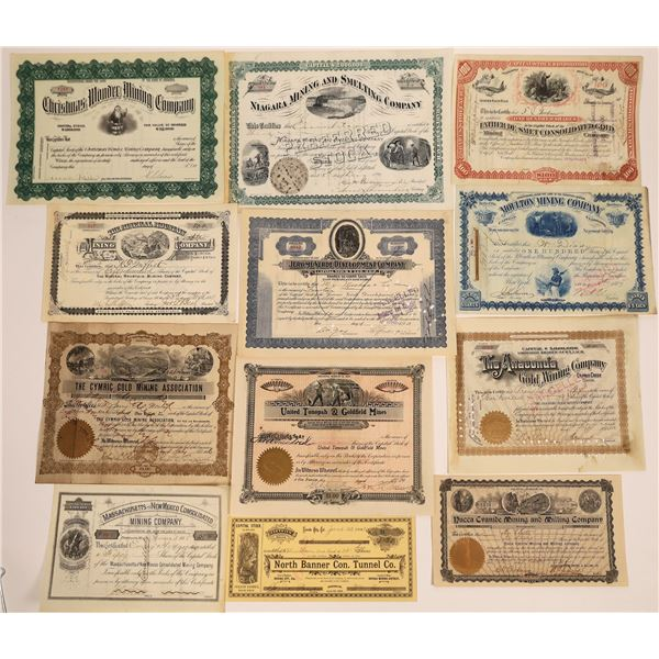 Western United States Mining Stock Certificate Collection  [130569]