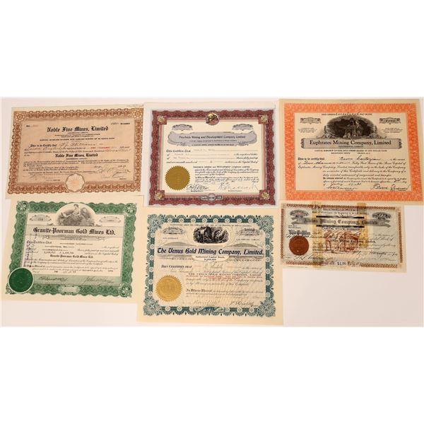 Nelson, British Columbia Stock Certificate Group  [130485]