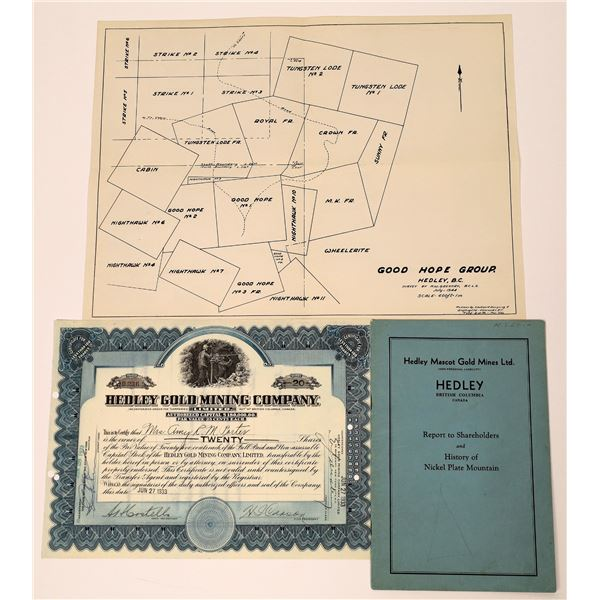 Hedley Gold Mining Company Stock Certificate and Prospectus  [130483]