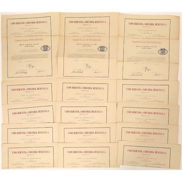 Union Mercantile Mexican Bonds  [139183]