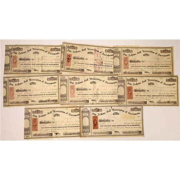Odd Fellows Hall Association of Sacramento Stock Certificates  [138484]