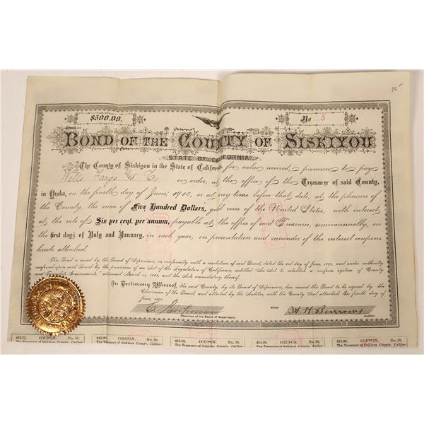 Bond of the County of Siskiyou Issued to Wells Fargo  [138519]