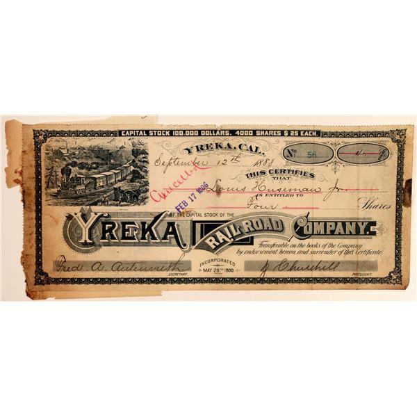 Yreka Railroad Company Stock Certificate  [138205]