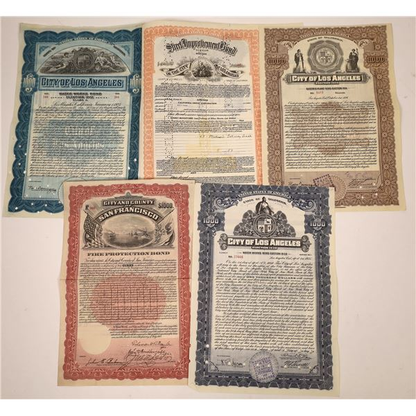 California City & County Bond Certificates  [138486]