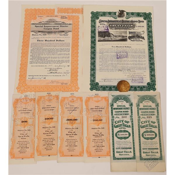 City of Great Falls Special Improvement District Coupon Bond Certificates  [140054]