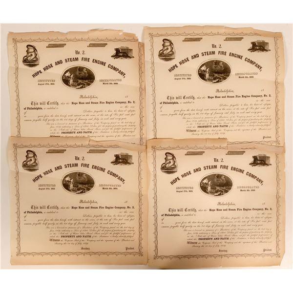 Hope Hose and Steam Fire Engine Company No. 2 Bonds  [138160]