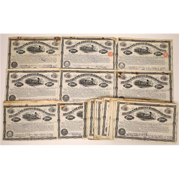 Atlantic & St. Lawrence Railroad Company Stock Certificates  [138516]