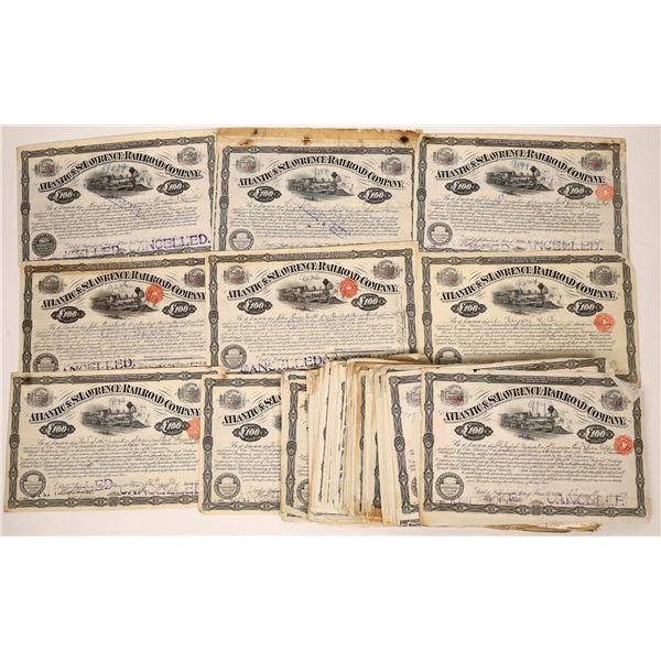 Atlantic & St. Lawrence Railroad Company Stock Certificates  [138515]
