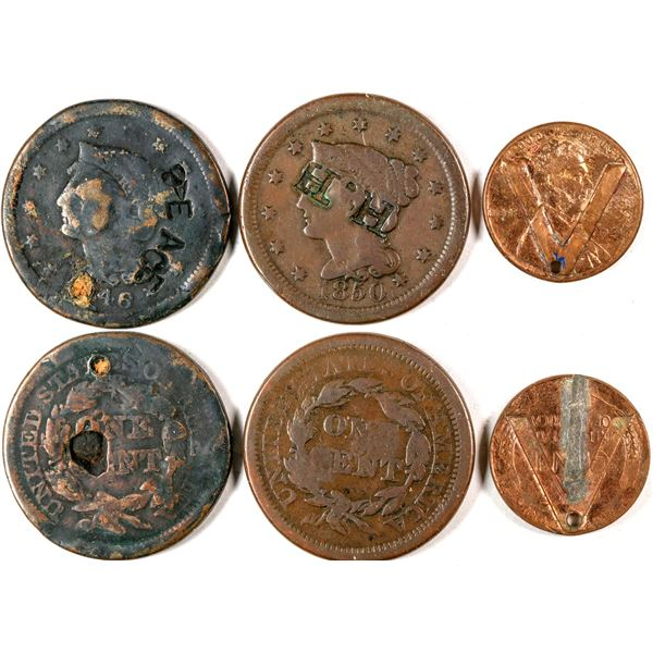 Counter stamped U.S. Coins  [137833]