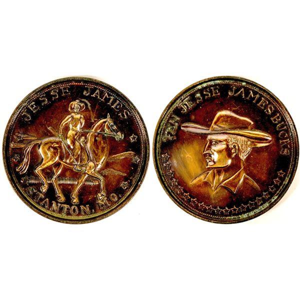 Ten Jesse James Bucks Coin Stanton, MO Souvenir  [137830]