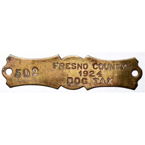 Fresno County Dog Tax Tag  [137820]