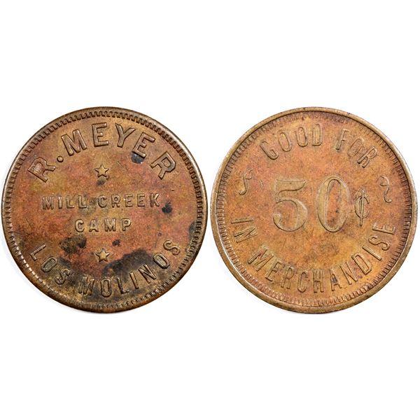Los Molinas California R. Meyer Mill Creek token  [137834]