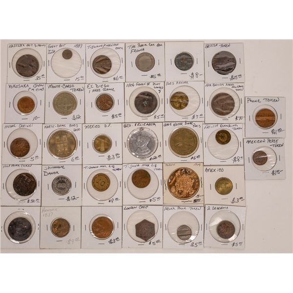 Coins Tokens & Medals from Western Europe, Mexico and Japan 1800-2000  [141183]