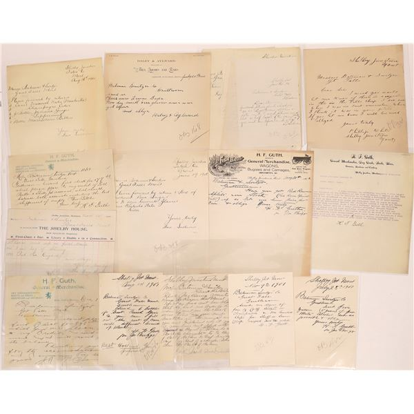 Correspondence from Shelby Junction, Montana ~ 15 pcs  [141037]