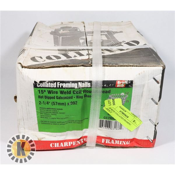 """GRIP RITE COLLATED FRAMING NAILS 2-1/4"""""""
