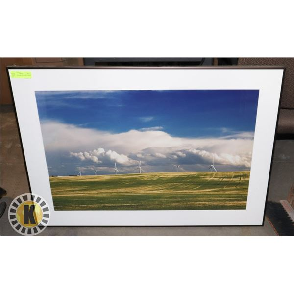 25  X 35  FRAMED PICTURE OF WIND MILL