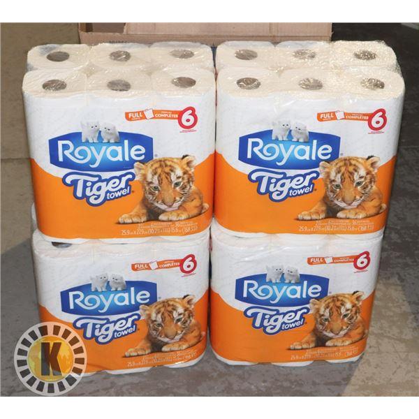 CASE OF TIGER TOWEL PAPER TOWEL