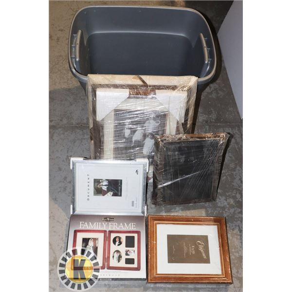 BOX OF WOODEN PICTURES FRAMES