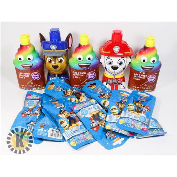 BAG OF KIDS BATH PRODUCTS