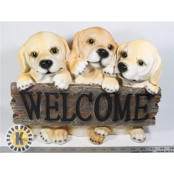 PUPPIES THEME WELCOME LAWN ORNAMENT