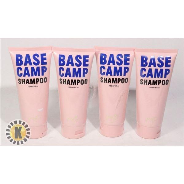 4 BASE CAMP SHAMPOO 150ML EACH
