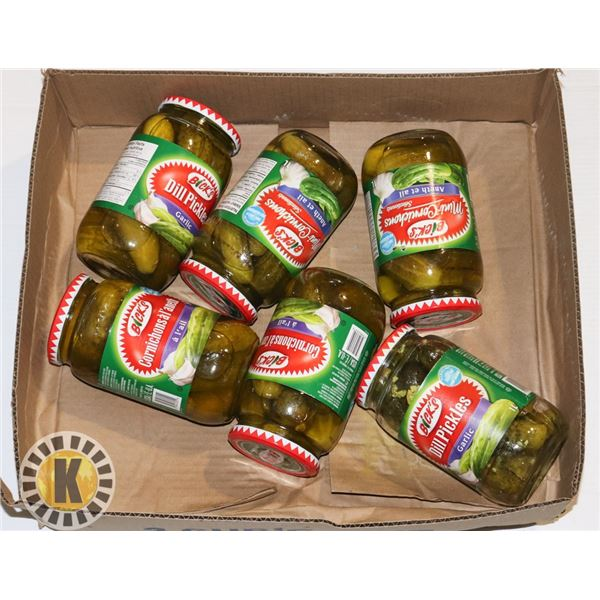 FLAT OF ASSORTED PICKLES