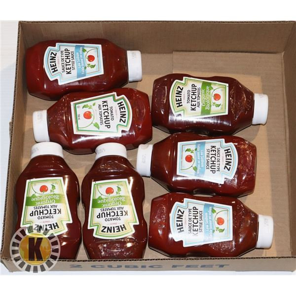 FLAT OF ASSORTED KETCHUP