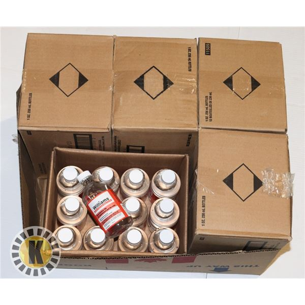 BOX WITH 5 CASES OF WILLIAMS HAND SANITIZER GEL