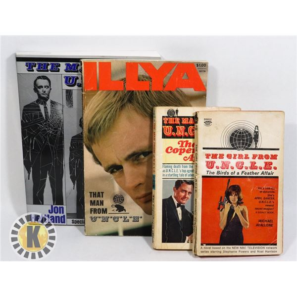MAN FROM UNCLE LOT-INCL 2 VINTAGE PAPERBACKS
