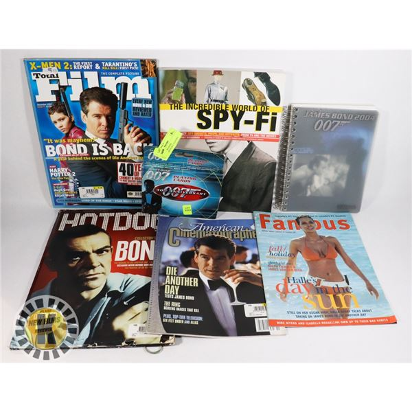 LOT OF JAMES BOND COLLECTIBLES, INCL PLAYING