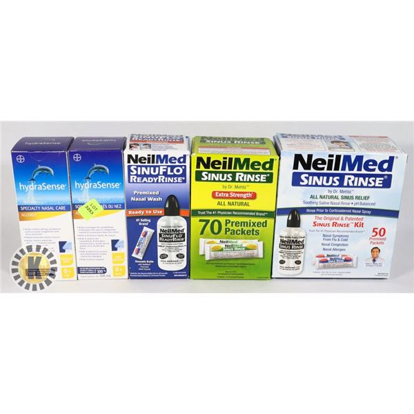 BUNDLE OF ASSORTED NASAL CARE ITEMS