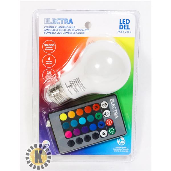 NEW LED COLOUR CHANGING LIGHT BULB WITH REMOTE