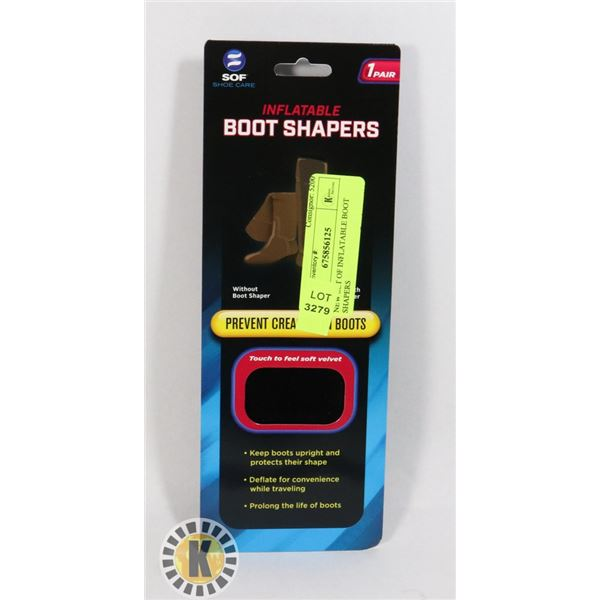 NEW SET OF INFLATABLE BOOT SHAPERS