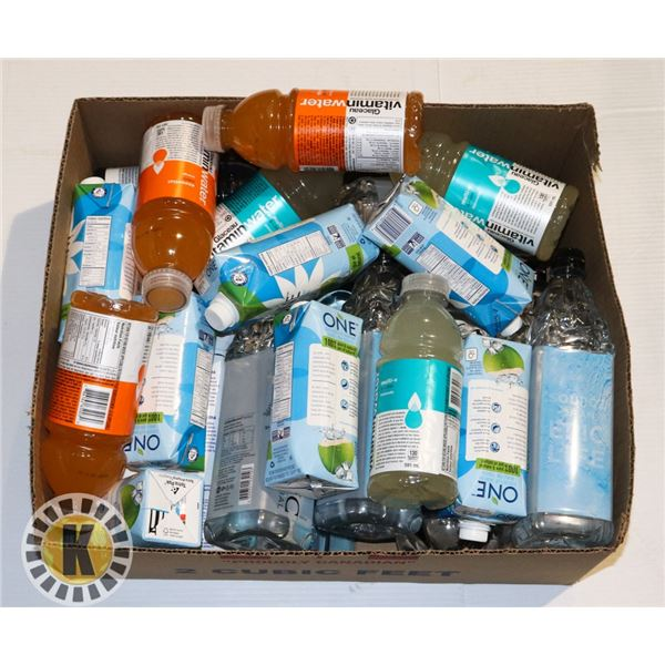 BOX OF ASSORTED DRINKS