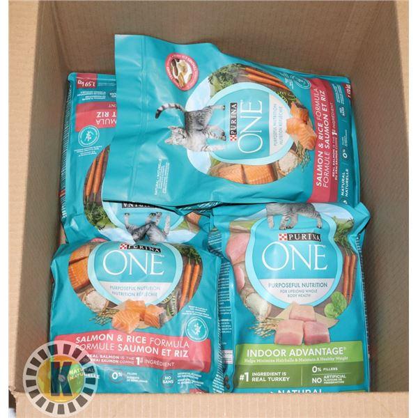 BOX OF CAT FOOD