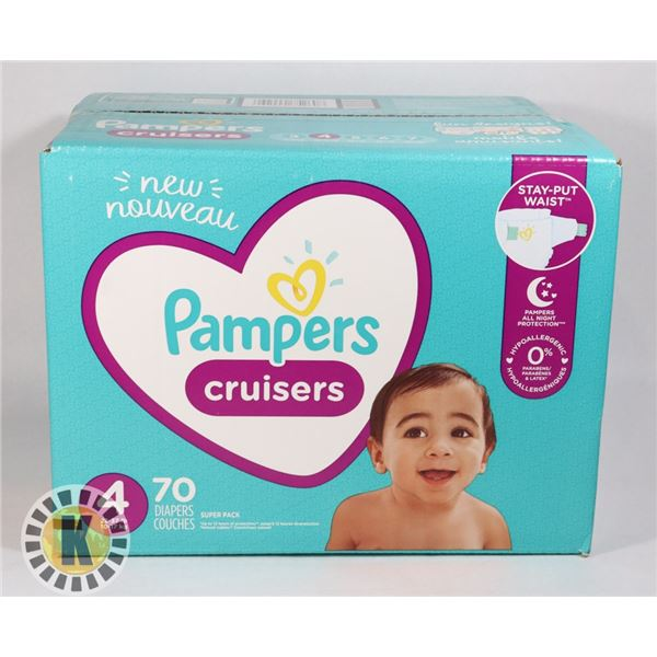 CASE OF PAMPERS CRUISERS SIZE 4