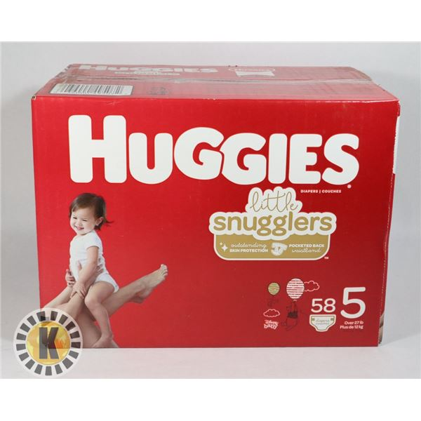 CASE OF HUGGIES LITTLE SNUGGLERS SIZE 5