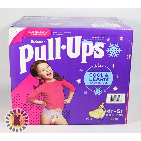 CASE OF HUGGIES PULL UPS SIZE 4T-5T