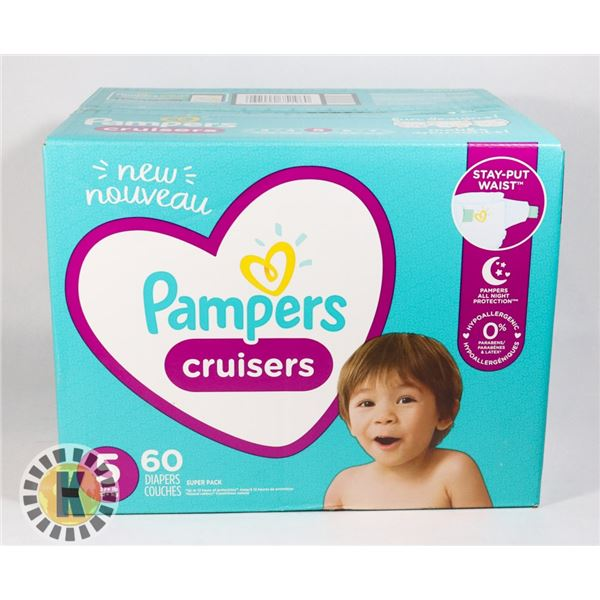 CASE OF PAMPERS CRUISERS SIZE 5